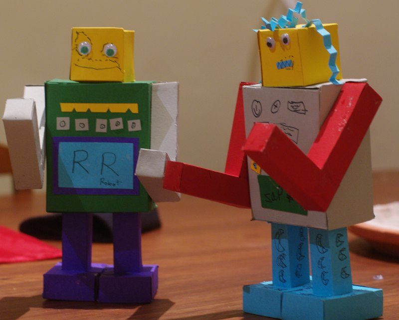 robots made from paper