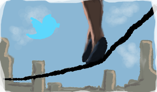 Twitter tightrope