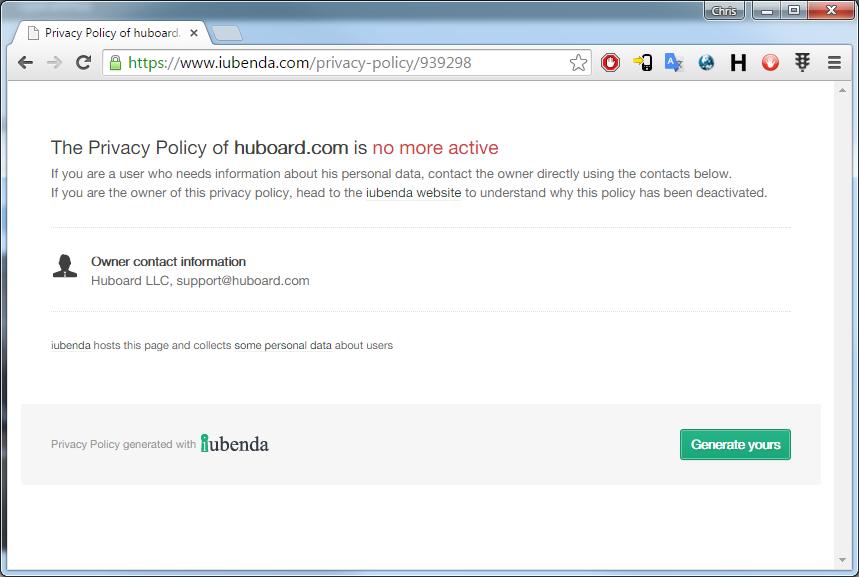huboard policy issue